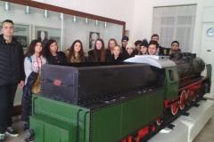Посещение на ученици от 10 клас на ПГРКК в музея на транспорта
